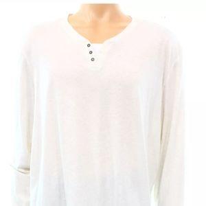 Alfani long-sleeved Henley shirt